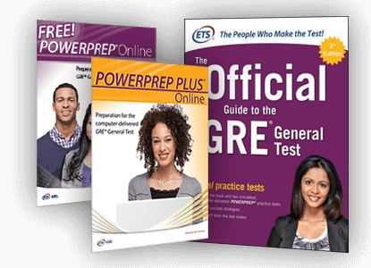 a sample of GRE test prep book