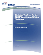 Cover of Statistical Analyses for the TOEIC Speaking and Writing Pilot Study